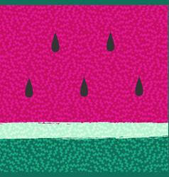 Watermelon summer background abstract design vector