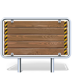 Wooden industrial billboard vector