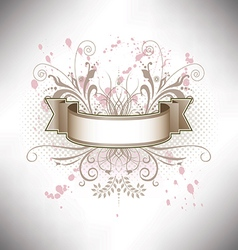 A floral banner in subdued colors vector image
