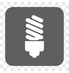Fluorescent bulb rounded square button vector