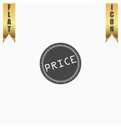 Price icon badge label or sticker vector