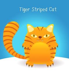 Cute tiger stripes cat vector