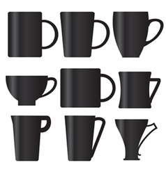 Forms cups vector