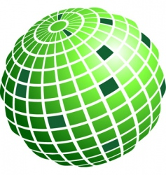 Wire frame globe vector