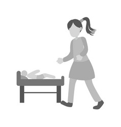 dressing baby vector image
