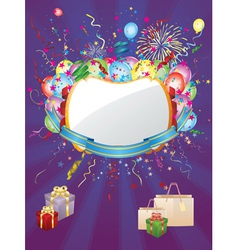 Colorful holiday background vector