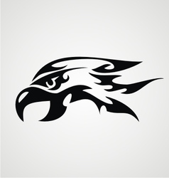 Tribal eagle head vector