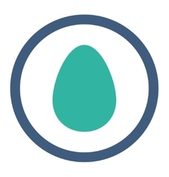Egg flat cobalt and cyan colors rounded vector