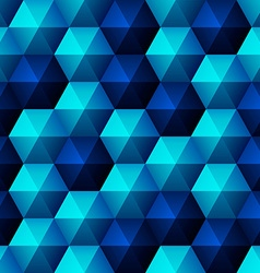 Relief blue hexagons vector