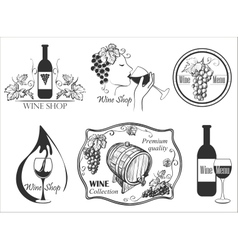 Wine labels collection vector
