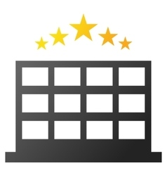 Hotel stars gradient icon vector