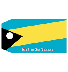 The bahamas flag on price tag vector