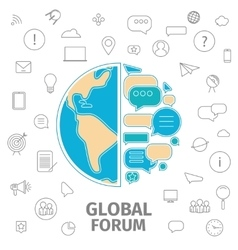 Global forum concept vector