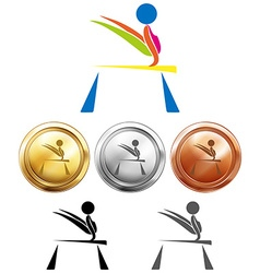 Different medals for balance bar vector