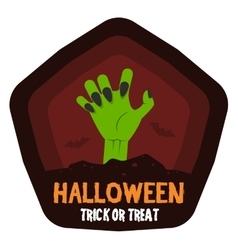 Halloween badge or label vector
