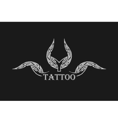 Abstract tattoo Black grunge symbol vector image