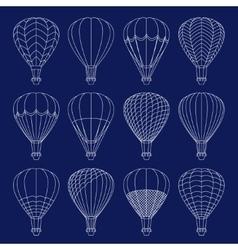 Air balloons set vector