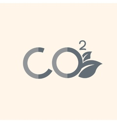 Carbon dioxide flat icon vector