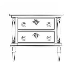 Classic furniture with royal luxury ornaments vector image vector image