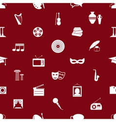 Culture and art theme red and white seamless vector
