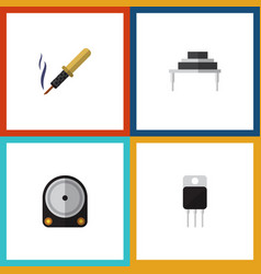 Flat icon electronics set of destination repair vector