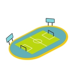 Football playground icon vector