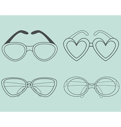 Glasses Icons Set Elements for design vector image
