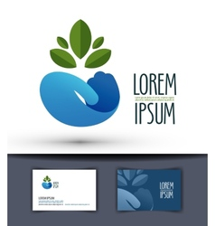 Grower logo design template plant or ecology icon vector