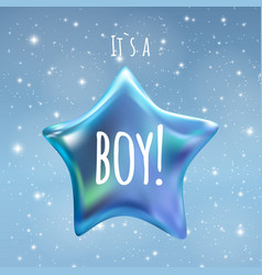 It is a boy twinkle little star on night sky vector