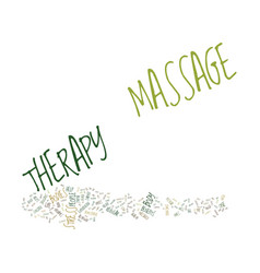 Massage therapy does your body good text vector