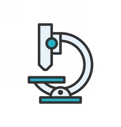 Microscope Outline Icon vector image vector image