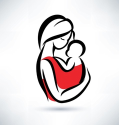 mom and baby symbol vector image vector image
