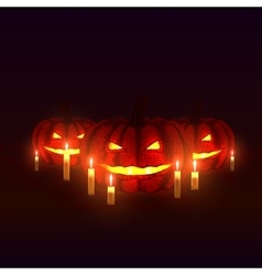 Pumpkins with candles vector
