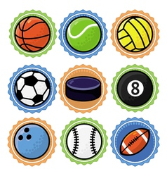 set with sport balls - cartoon vector image