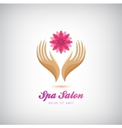 Spa beauty salon cosmetics massage logo vector