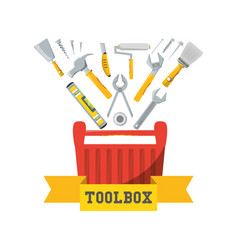 Tool box to repair service vector