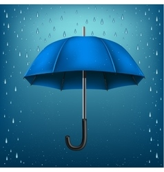 Umbrella rain blue background vector