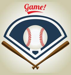 vintage baseball logo vector image