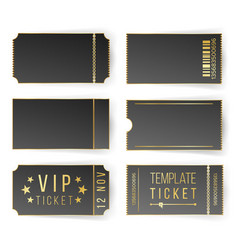 vip ticket template empty black tickets vector image