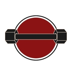 weight gym equipment icon vector image vector image