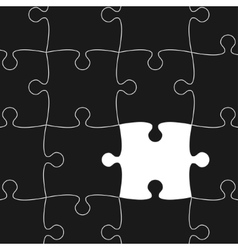 White puzzle pieces background vector