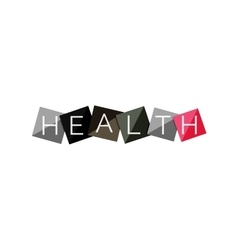 Word concept on color geometric shapes - health vector image vector image