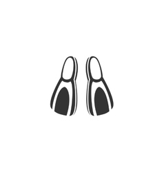 Flippers icon isolated on a white background vector image