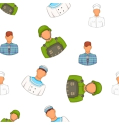Workers pattern cartoon style vector