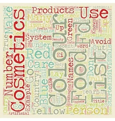 Colour cosmetics text background wordcloud concept vector