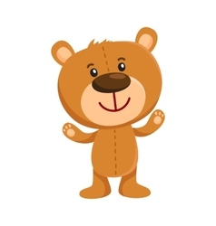 Cute retro style teddy bear character standing vector