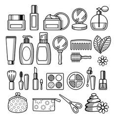 Cosmetics icon set vector