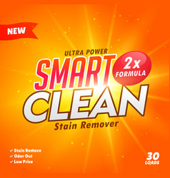 Cleaning and washing detergent packaging design vector