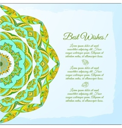 Nice floral greeting card with leaves for wedding vector