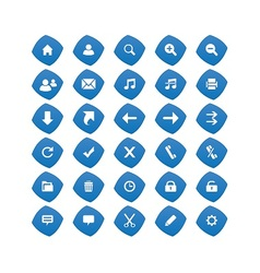 Web Blue Icons vector image